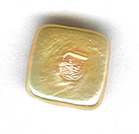 freshwater pearl bead peach square