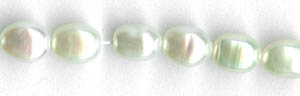 5x7mm oval white freshwater
